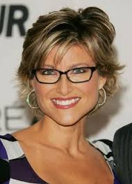 short hairstyles with glasses and bangs glasses and bangs over 40 layered razor cut with bangs short