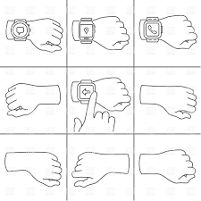 sketched hands with smartwatch vector clipart image 36146 u2013 rfclipart