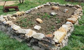 Raised Rock Garden Beds Building A Mortarless Rock Wall For Strawberries Well Waterboy