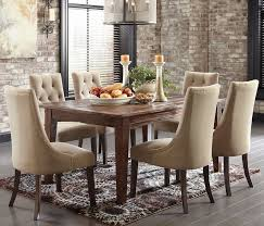 Chair Dining Table Rustic Dining Room Chairs On Merida Copper Dining Table Set 3