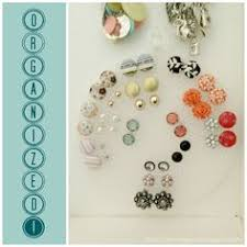organize stud earrings diy organize stud earrings print a pretty image on card stock