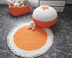 Childrens Round Rugs Shop Cotton Crochet Rug On Wanelo