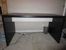 ikea black brown desk large mikael desk from ikea victoria city victoria