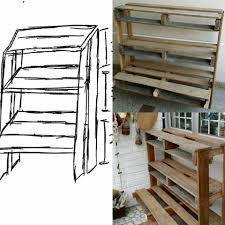 Display Shelving by Pallet Vertical Display Shelves And Table Project 101 Pallet Ideas