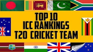 Icc Flag Top 10 T20 Cricket Teams With Icc Ranking 2017 Top 10 Icc T20