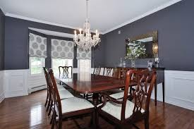 Traditional Dining Room With Chair Rail  Bay Window In Warren NJ - Dining room with bay window