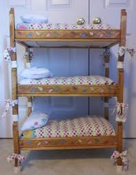 Woodworking Plans Doll Bunk Beds by Doll Triple Bunkbed I Built For My Daughter U0027s American Dolls