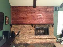 cover brick fireplace with stone tile drywall before remodel fake