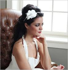 voilette mariage mariage serre tête fleur blanche robe bretelles