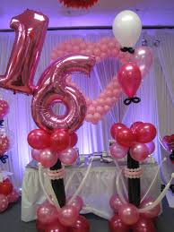 sweet 16 party decorations sweet 16 decor balloons at it s my party