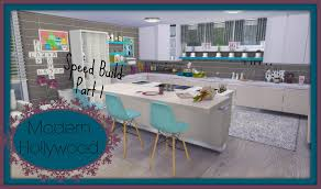 Modern Houes Sims 4 Speed Build Modern House Hollywood Part1 Youtube
