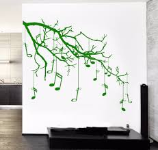 compare prices tree branches wall art online shopping buy low music tree branch notes cool creative black wall art decal sticker removable vinyl transfer stencil mural