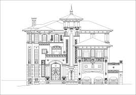 luxury villa plans 3 cad files dwg files plans and details