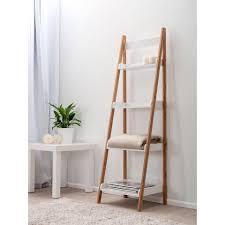 ladder bookcase ikea decorating contemporary narrow bookshelf for