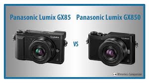 10 main differences between the panasonic gx85 and gx850 gx80 vs