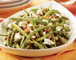 cuisiner haricot vert recette de salade de haricots verts aux noix et fromage de chèvre