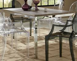 Coaster Dining Room Sets Coaster Eldridge Dining Table Weathered Grey Chrome 121121 At