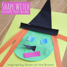Halloween Crafts For Kindergarten Witch Shape Craft Inspired By Room On The Broom Toddler