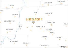 lincoln city map lincoln city united states usa map nona