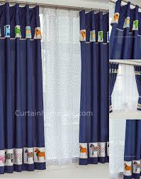 blue curtains designs imanada dark adorable animal patterns short