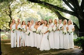 vera wang bridesmaid brides bridesmaids photos with 13 bridesmaids in white