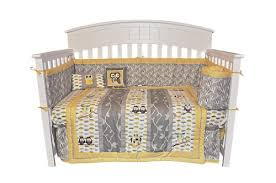 Grey And Yellow Crib Bedding Neutral Crib Bedding My Abcs 4 Crib Bedding Set New
