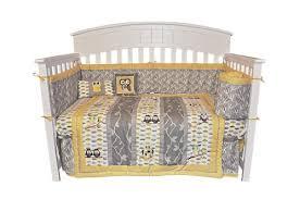 neutral crib bedding my abcs 4 crib bedding set new Grey And Yellow Crib Bedding