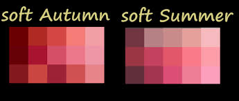 different reds soft autumn compared to soft summer reds pinks notice s