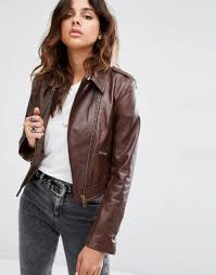 brown leather motorcycle jacket leather jackets biker chic trend fall 2016 shop