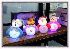 wholesale sales led poms decorations ornaments glowing