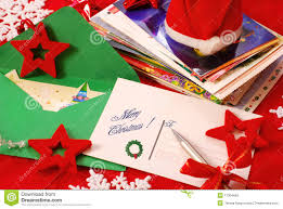 writing greeting cards for christmas stock photography image