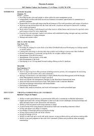 trader resume samples velvet jobs