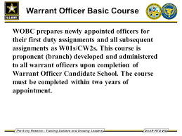 army strong warrant officer program ppt video online download