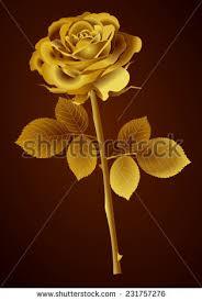 Golden Roses Set Gold Shining Roses On Black Stock Vector 268839383 Shutterstock