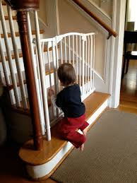 Baby Gates For Bottom Of Stairs With Banister Baby Gates Of Hell Dr Stay At Home Mom