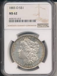silver dollar city halloween 1883 o morgan silver dollar breath taking ngc certified ms62