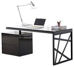 Black Office Desk Furniture Modern Black Office Desk Throughout Loft Furniture Pedestal