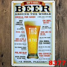 home decor from around the world aliexpress com buy wall stickers 20 30cm poster home decor beer