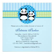 Panda Baby Shower Invitations - panda themed baby shower gifts on zazzle
