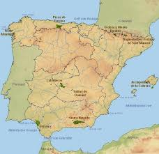 physical map of spain profe de historia the physical landscape of spain