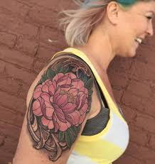 tattoos by laura jade tattoos flower pink peony tattoo