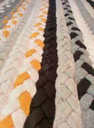 Black And White Braided Rug Braided Kitchen Mat Striped Yellow Grey Black And White