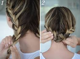 step by step braid short hair rope braided updo for short hair parlor diary flowers