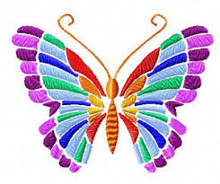 4 hobby machine embroidery designs butterflies rainbow