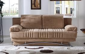 Modern Convertible Furniture by Brown Microfiber Modern Convertible Sofa Bed W Storage
