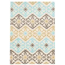 Area Rug Aqua Linon Home Decor Geo Collection Grey Aqua 2 Ft X 3 Ft Indoor