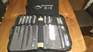 secondhand catering equipment chefs knives fujiyama 9 piece