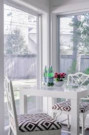 White Parsons Dining Table White Parsons Dining Table Transitional Dining Room Kerry