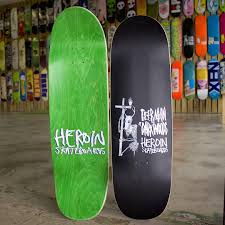 store products heroin skateboards deer man icon deck 129 99