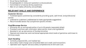 Bar Resume Sample 85 Resume Sample Bartender Server Waitress Name Waitress